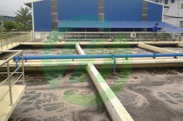 Hệ thống xử lý nước thải dệt nhuộm Cty Dệt Nhuộm Hưng Phát Đạt